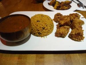 Rice & Beans w/ Boneless Fried Chicken Chunks